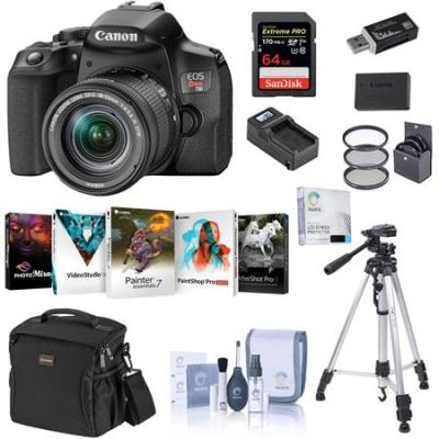 EOS Rebel T8i DSLR with EF-S 18-55mm STM Lens With Accessory Essential Kit