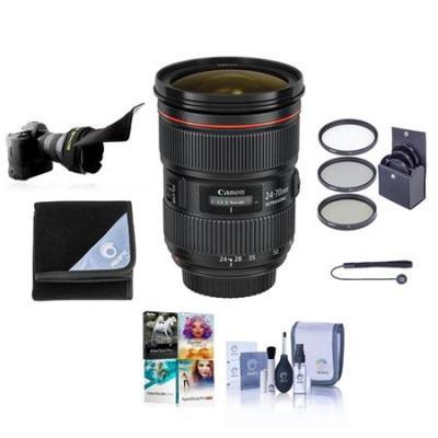 EF 24-70mm f/2.8L II USM Lens with Free Basic Accessory Bundle (PC)