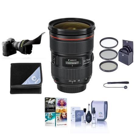 EF 24-70mm f/2.8L II USM Lens with Free Basic Accessory Bundle (PC)