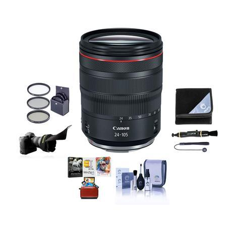 RF 24-105mm f/4 L IS USM Lens with Free Basic Accessory Bundle (Mac)