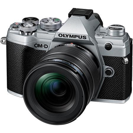 Olympus OM-D E-M5 Mark III 21.8MP Mirroless Digital Camera with M.Zuiko Digital ED 12-45mm F4.0 PRO Lens, Silver
