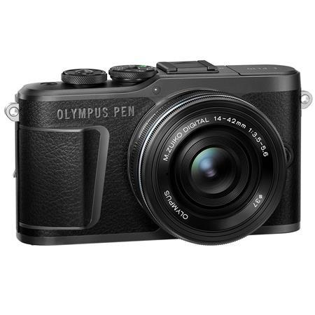 Olympus PEN E-PL10 Mirrorless Digital Camera with M.Zuiko Digital 14-42mm f/3.5-5.6 EZ Lens, Black