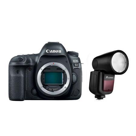 EOS 5D Mark IV DSLR Camera with Flashpoint Zoom Li-On X TTL Speedlight