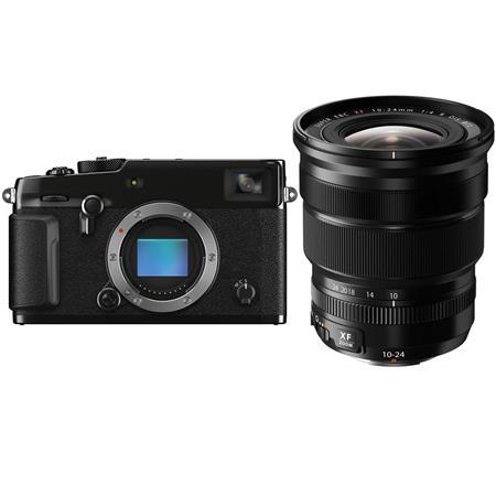 Fujifilm X-Pro3 Mirrorless Digital Camera, Black - With XF 10-24mm (15-36mm) F4.0 OIS Lens, Black