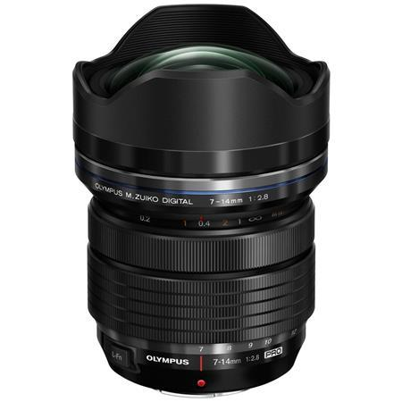 Olympus M. Zuiko Digital ED 7-14mm f2.8 Pro Lens, Black, for Micro Four Thirds System