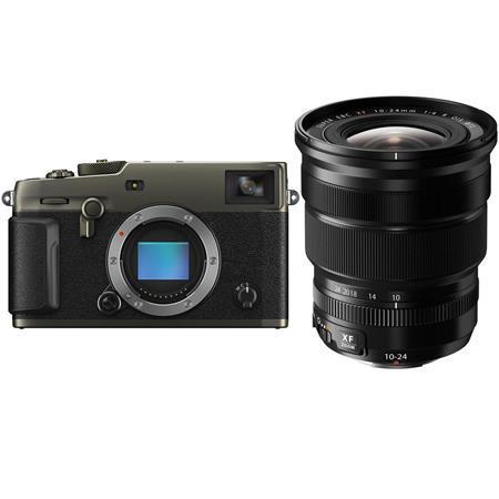 Fujifilm X-Pro3 Mirrorless Digital Camera, Dura Black - With XF 10-24mm (15-36mm) F4.0 OIS Lens - Black