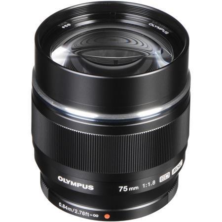Olympus M. Zuiko Digital 75mm f/1.8 Lens, Black - for Micro Four Thirds System