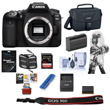 EOS 90D DSLR Camera Body - With Free MAC Free accessory Bundle