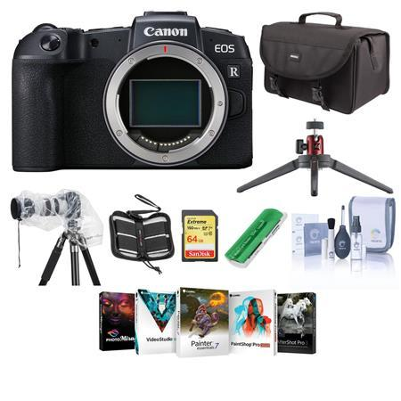 EOS RP Mirrorless Full Frame Digtal Camera Body With Free PC Accessory Kit