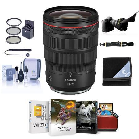 RF 24-70mm f/2.8 L IS USM Lens with Free Basic Accessory Bundle (Mac)