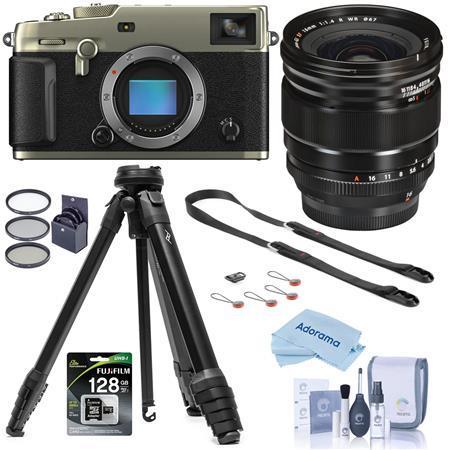 Fujifilm X-Pro3 Mirorless Camera,Silver With XF 16mm F1.4 R WR Lens W/Tripod Kit