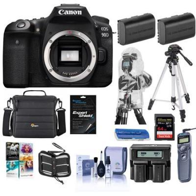EOS 90D DSLR Camera Body With Premium Accessory Bundle