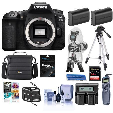 EOS 90D DSLR Camera Body With Premium Accessory Bundle