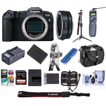 EOS RP Mirrorless Full Frame Digital Camera Body With Premium Acc Bundle