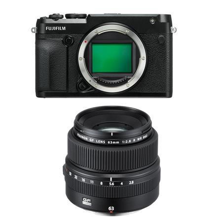 Fujifilm GFX 50R Medium Format Mirrorless Camera (Body Only) - with Fujifilm FUJINON GF 63mm F/2.8 R WR Lens