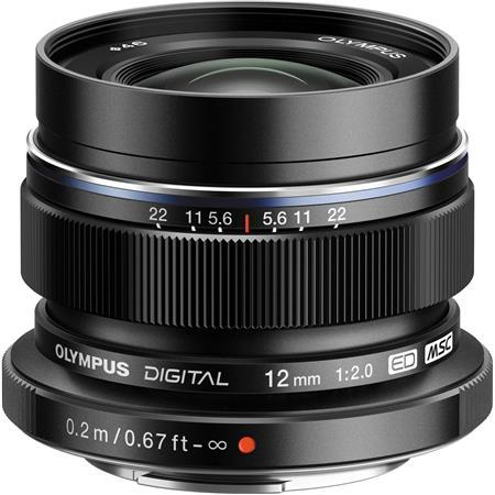 Olympus M.Zuiko Digital ED 12mm F/2 Lens - for Micro Four Thirds System, Black