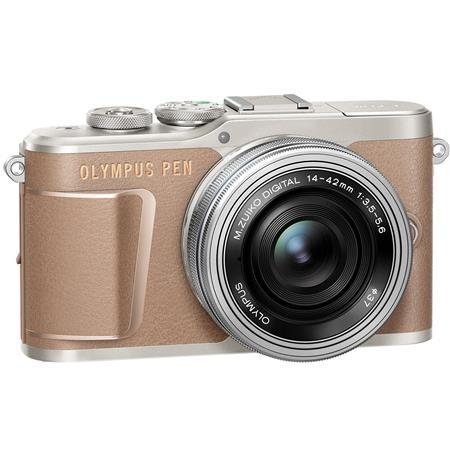 Olympus PEN E-PL10 Mirrorless Digital Camera with M.Zuiko Digital 14-42mm f/3.5-5.6 EZ Lens, Brown