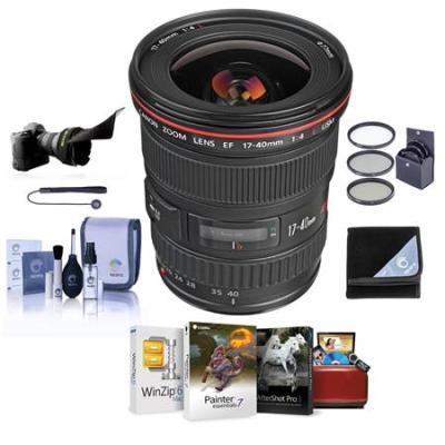 EF 17-40mm f/4L USM Lens with Free Basic Accessory Bundle (Mac)