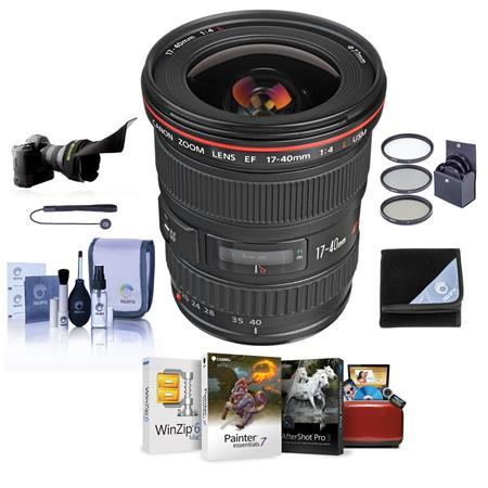 EF 17-40mm f/4L USM Lens with Free Basic Accessory Bundle (Mac)