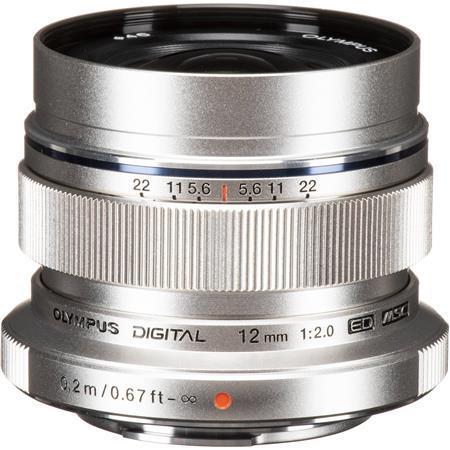 Olympus M.Zuiko Digital ED 12mm F/2 Lens - for Micro Four Thirds System - Silver