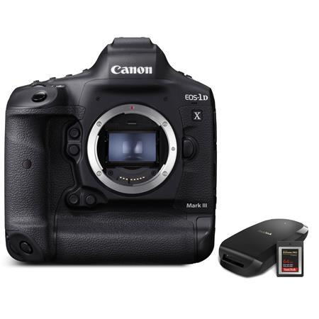 EOS-1D X Mark III DSLR Camera Body with CFexpress Card & Reader Bundle Kit