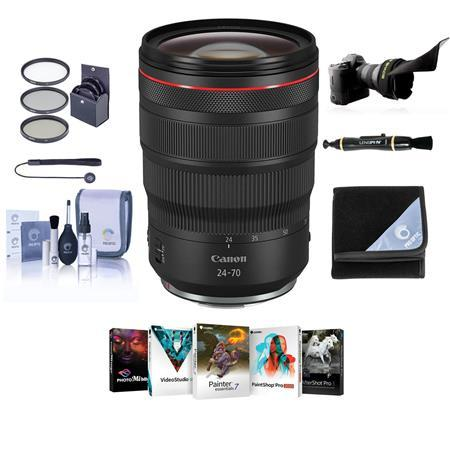 RF 24-70mm f/2.8 L IS USM Lens with Free Basic Accessory Bundle (PC)
