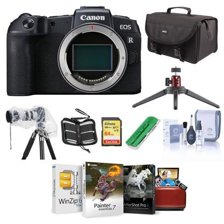 EOS RP Mirrorless Full Frame Camera Body With Free Mac Accessory Bundle
