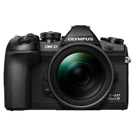 Olympus OM-D E-M1 Mark III Mirrorless Digital Camera with M.Zuiko Digital ED 12-40mm f/2.8 PRO Lens, Black