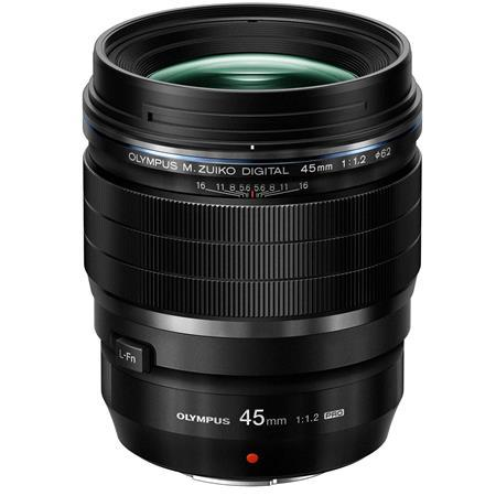 Olympus M. Zuiko Digital ED 45mm f/1.2 Pro Lens - Black - for Micro Four Thirds System