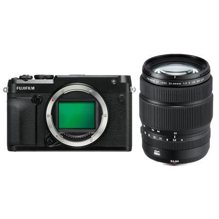 Fujifilm GFX 50R Medium Format Mirrorless Camera With Fujifilm GF 32-64mm f/4 R LM WR Wide-Angle Zoom Lens