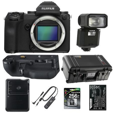 Fujifilm GFX 50S 51.4MP Medium Format Mirrorless Camera - With Accessory Bundle