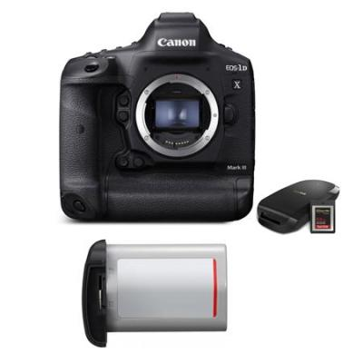 EOS-1D X Mark III DSLR Camera with CFexpress Card & Reader W/Essential Kit