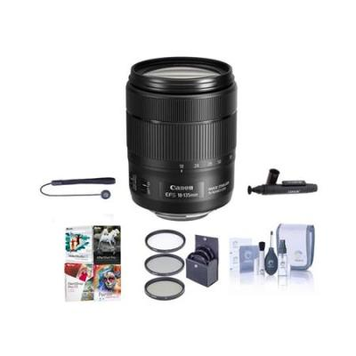 EF-S 18-135mm f/3.5-5.6 IS USM Lens with Free Basic Accessory Bundle (PC)