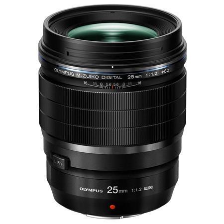 Olympus M. Zuiko Digital ED 25mm f/1.2 PRO Lens, for Micro Four Thirds System, Black