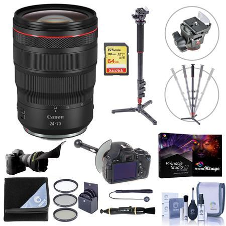 RF 24-70mm f/2.8 L IS USM Lens with Premium Accessory Bundle