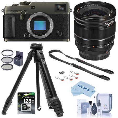 Fujifilm X-Pro3 Mirorless Camera,Dura Black With XF 16mm F1.4 R WR Lens W/Tripod