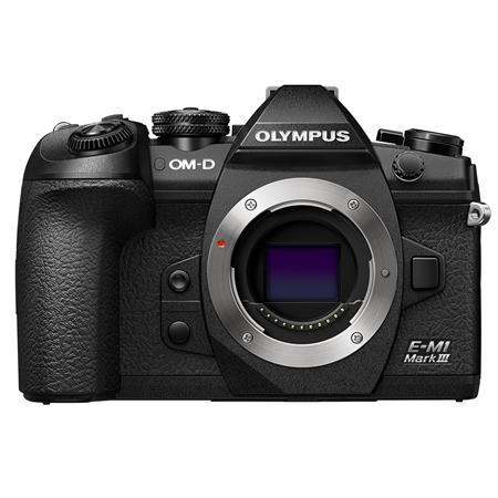 Olympus OM-D E-M1 Mark III Mirrorless Digital Camera Body, Black