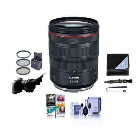 RF 24-105mm f/4 L IS USM Lens with Free Basic Accessory Bundle (PC)