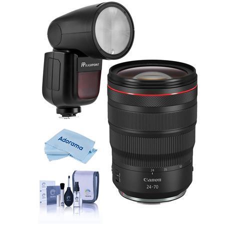 RF 24-70mm f/2.8 L IS USM Lens With Flashpoint Zoom Li-on X R2 TTL Flash