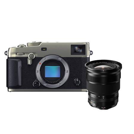 Fujifilm X-Pro3 Mirrorless Digital Camera, Dura Silver - With XF 10-24mm (15-36mm) F4.0 OIS Lens, Black