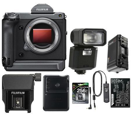 Fujifilm GFX 100 Medium Format Mirrorless Camera Body With Accessory Bundle