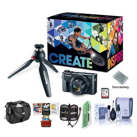 PowerShot G7 X Mark II Digtal Camera and Video Kit W/Free Accessory Bundle
