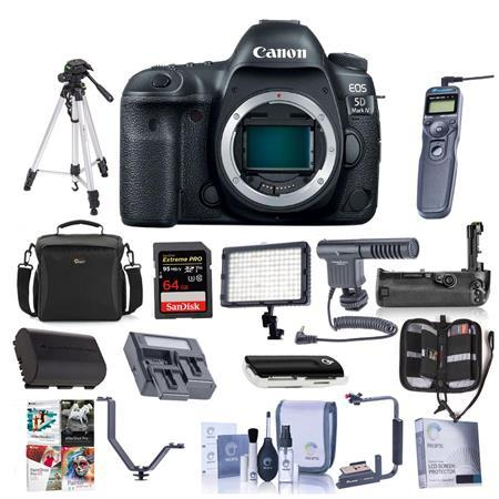 EOS 5D Mark IV DSLR Body with Pro Accessory Bundle