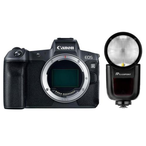 EOS R Mirrorless Digital Camera with Flashpoint Zoom Li-On X TTL Speedlight