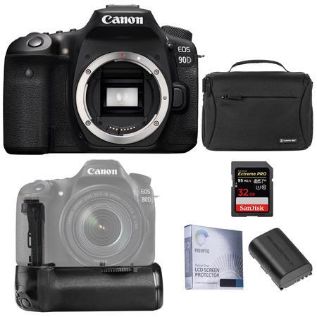 EOS 90D DSLR Camera Body With Battery Grip Basic Accessory Kit