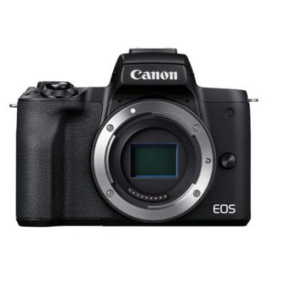 Canon EOS M50 Mark II Mirrorless Camera with EF-M 15-45mm f/3.5-6.3 IS STM and EF-M 55-200mm f/4.5-6.3 IS STM Lens, Black