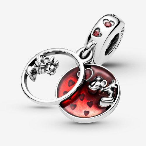 Minnie /& Mickey With Love Dangle Charm