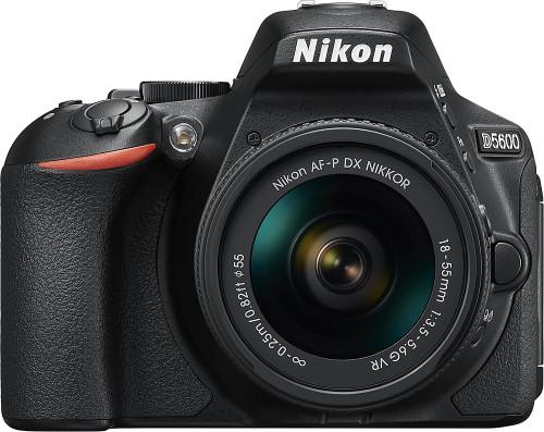 D5600 DSLR Camera with AF-P DX NIKKOR 18-55mm f/3.5-5.6G VR Lens - Black