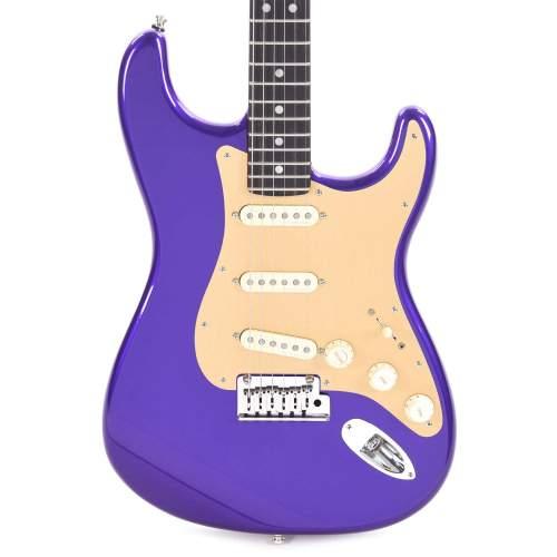 Fender American Ultra Stratocaster Plum Metallic w/Ebony Fingerboard & Anodized Gold Pickguard