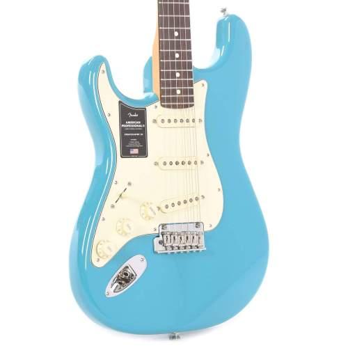 Fender American Professional II Stratocaster Miami Blue LEFTY